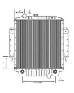 Freightliner Copper / Brass Radiator (With Framework) (High Efficiency Core)