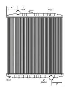 Freightliner Copper / Brass Radiator (Standard Core)