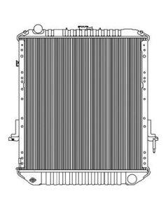 Isuzu Plastic / Aluminum Radiator (Oil Cooler on Grill Side)