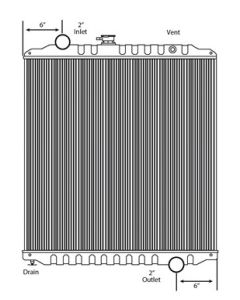 Freightliner Copper / Brass Radiator (High Efficiency Core)