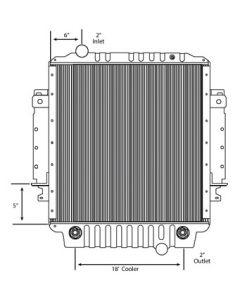 Freightliner Copper / Brass Radiator (With Framework) (Standard Core)