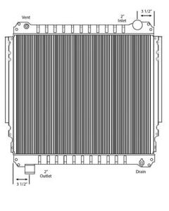 Ford Copper / Brass Radiator (With Framework)
