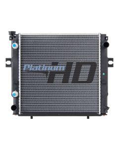 Caterpillar Forklift Plastic / Aluminum Radiator (Square Fin Core)