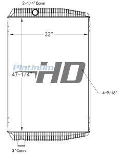 MCI Bus Plastic / Aluminum Radiator