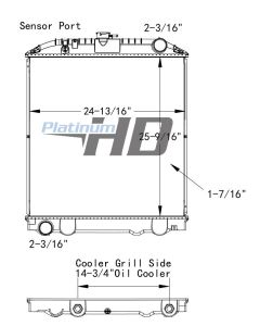 Nissan Plastic / Aluminum Radiator