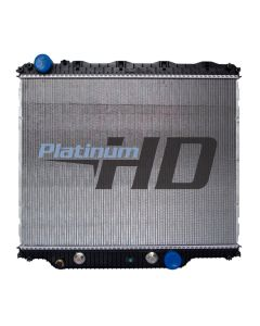 Mack-Volvo Plastic / Aluminum Radiator (With Diagonal Bottom Mounts)