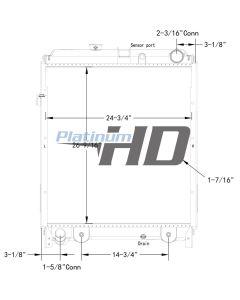 Hino Plastic / Aluminum Radiator (With Framework)