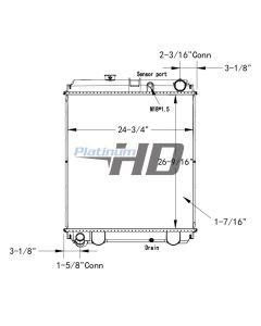 Hino Plastic / Aluminum Radiator