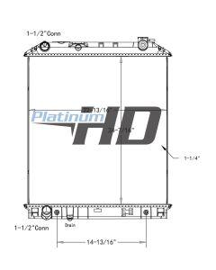 Isuzu / GMC Plastic / Aluminum Radiator