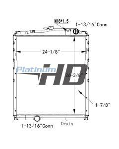 Mitsubishi - Fuso Plastic / Aluminum Radiator (With Framework)