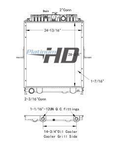 Nissan Plastic / Aluminum Radiator (With Framework)