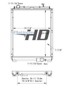 Mitsubishi - Fuso Plastic / Aluminum Radiator